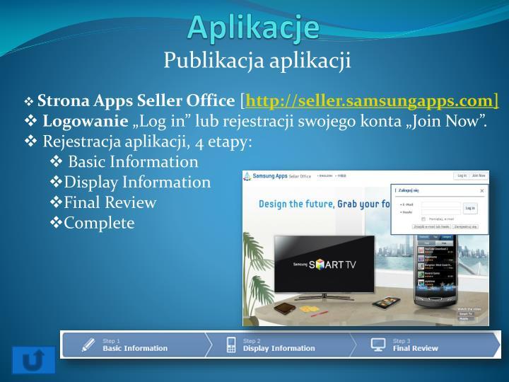 Publikacja aplikacji