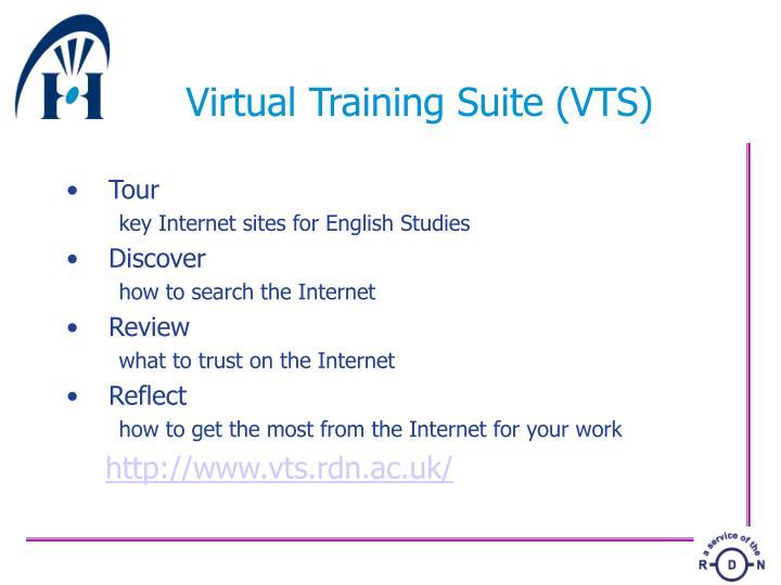 Virtual Training Suite (VTS)