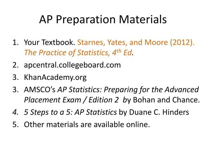 AP Preparation Materials