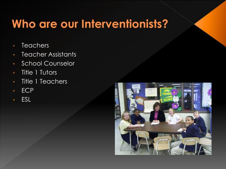 Who are our Interventionists?