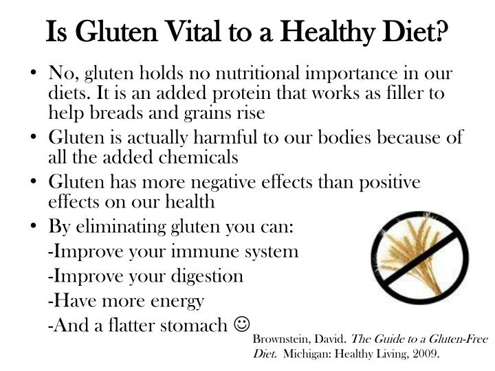 Is Gluten Vital to a Healthy Diet?