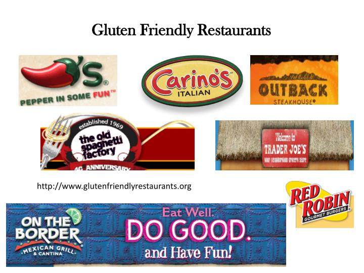 Gluten Friendly Restaurants