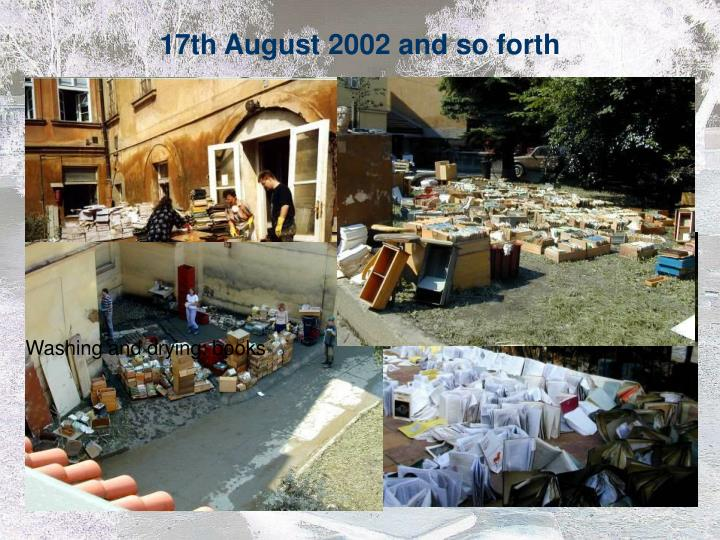 17th August 2002 and so forth