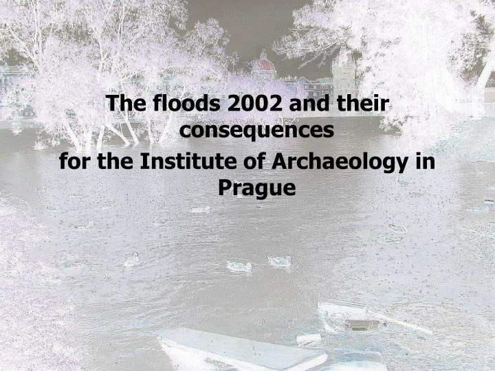 The floods 2002 and their consequences