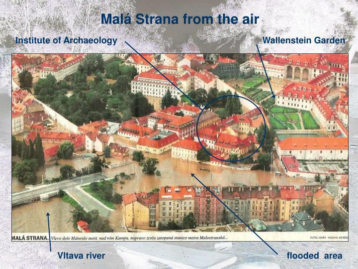 Malá Strana from the air