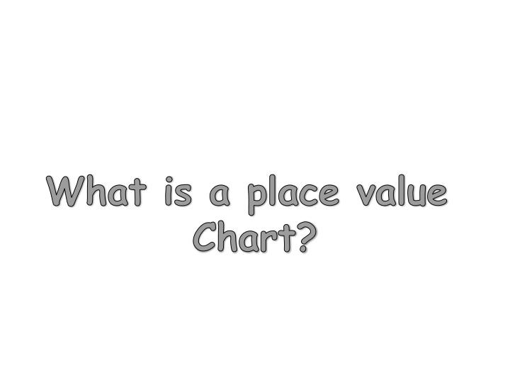 What is a place value