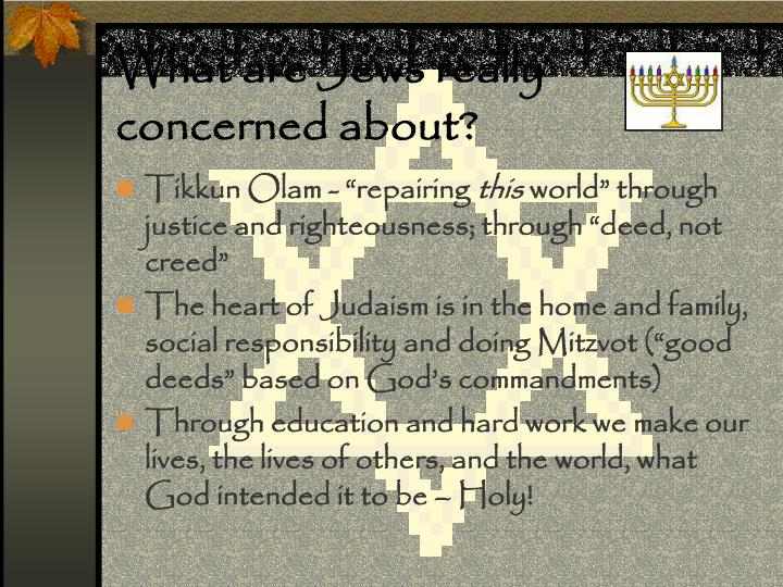 What are Jews really concerned about?