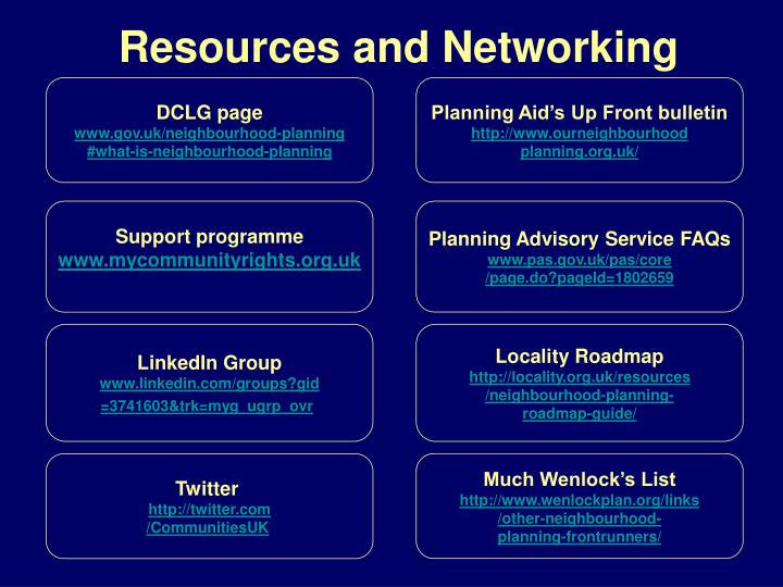 Resources and Networking