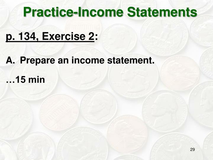 Practice-Income Statements