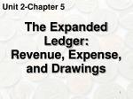 the expanded ledger revenue expense and drawings