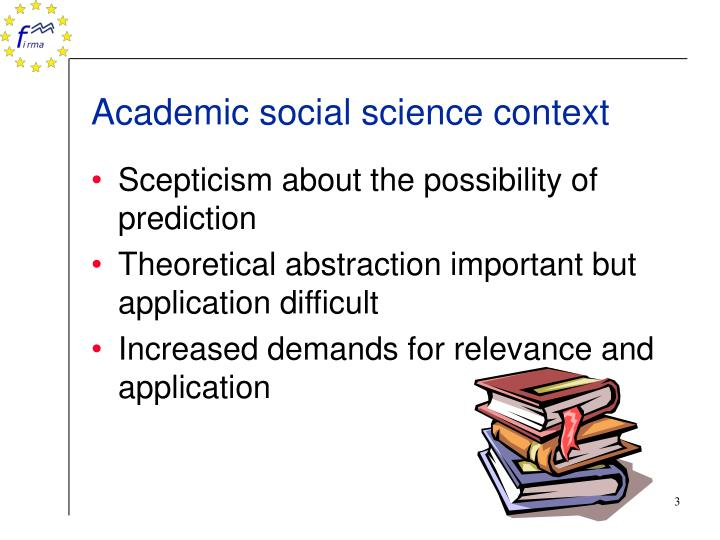 Academic social science context