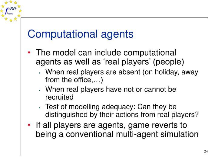 Computational agents