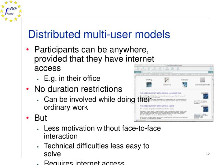 Distributed multi-user models