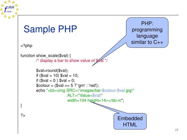 PHP: programming language similar to C++