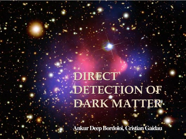 Direct detection of dark matter