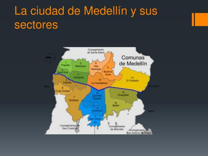 La ciudad de Medellín y sus sectores