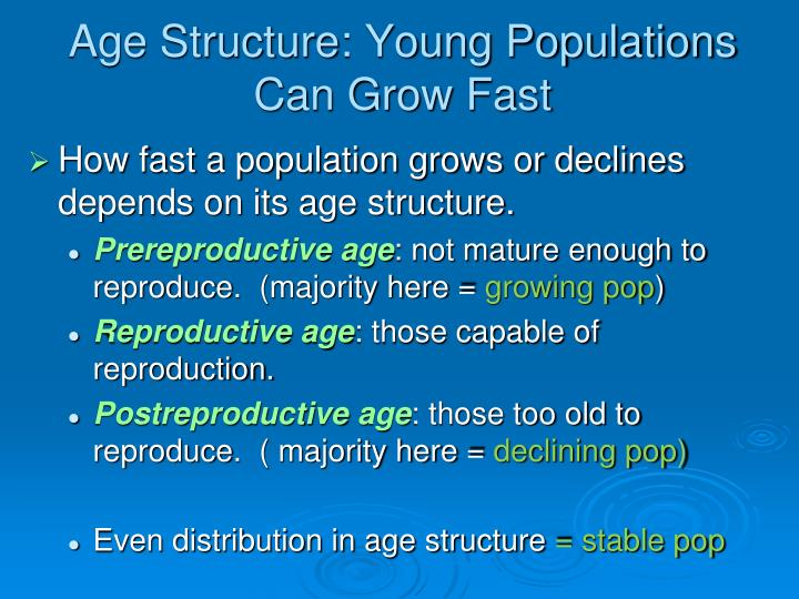 Age Structure: Young Populations