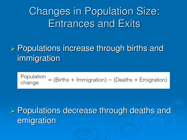 Changes in Population Size: