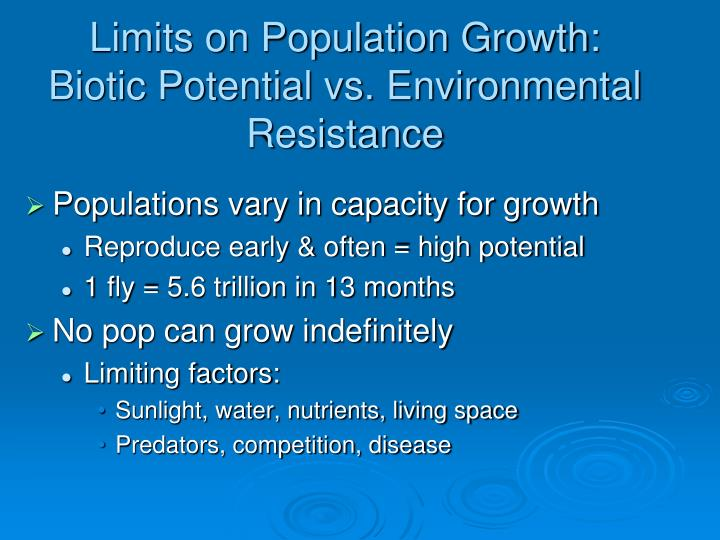 Limits on Population Growth: