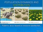 population dynamics and distribution