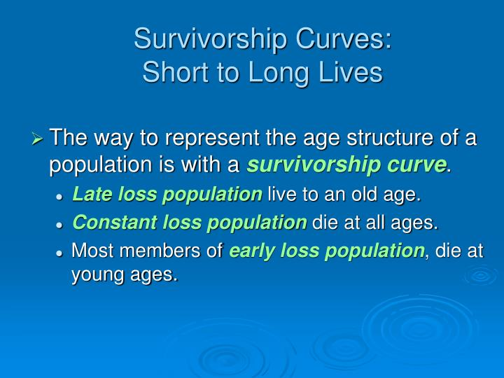 Survivorship Curves: