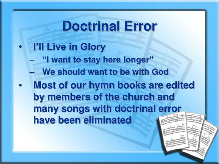 Doctrinal Error