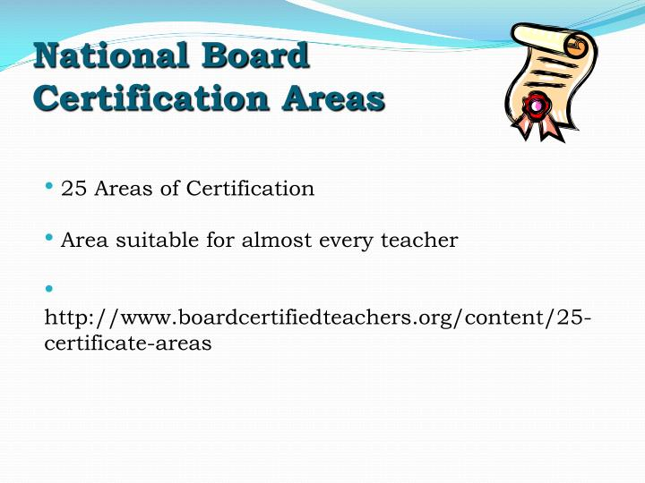 National Board Certification Areas