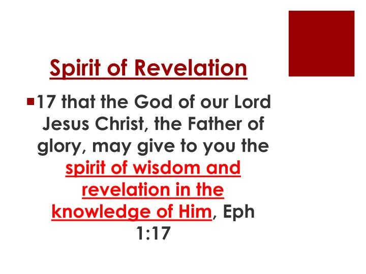 Spirit of Revelation