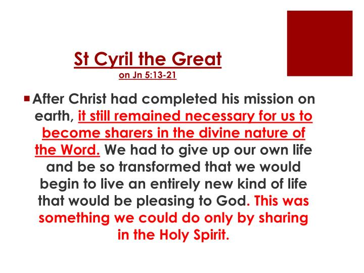 St Cyril the Great