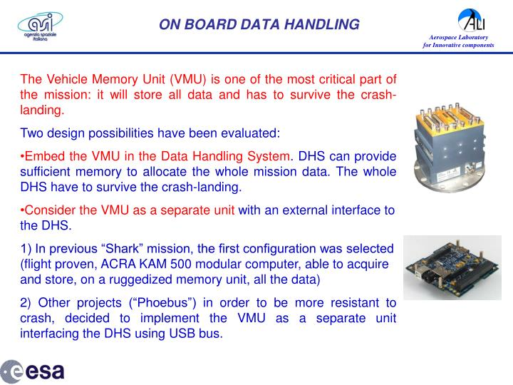 ON BOARD DATA HANDLING