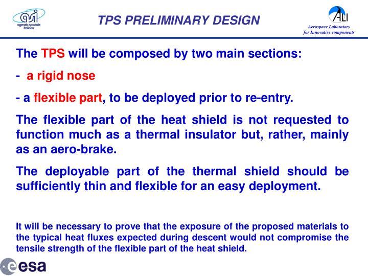 TPS PRELIMINARY DESIGN