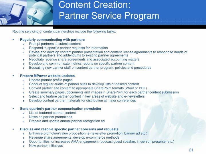 Content Creation: