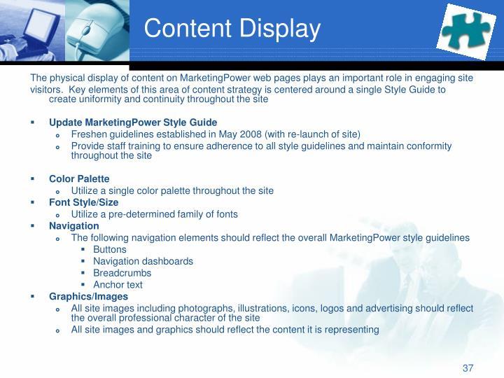 Content Display