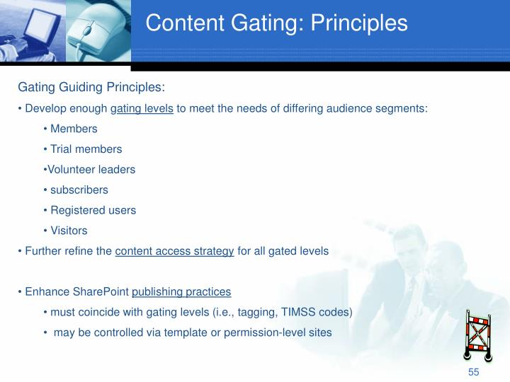 Content Gating: Principles