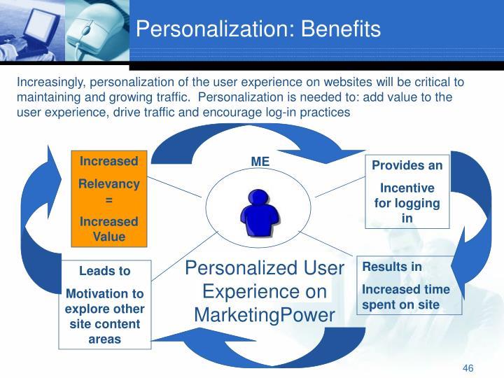 Personalization: Benefits