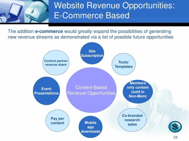 Website Revenue Opportunities: E-Commerce Based
