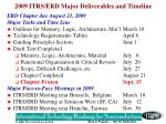 2009 itrs erd major deliverables and timeline