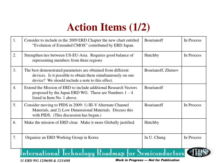 Action Items (1/2)