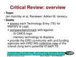 critical review overview