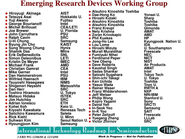 Emerging Research Devices Working Group
