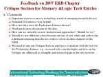 feedback on 2007 erd chapter critique section for memory logic tech entries
