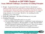 feedback on 2007 erd chapter scope difficult challenges taxonomy guiding principles