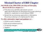 mission charter of erd chapter