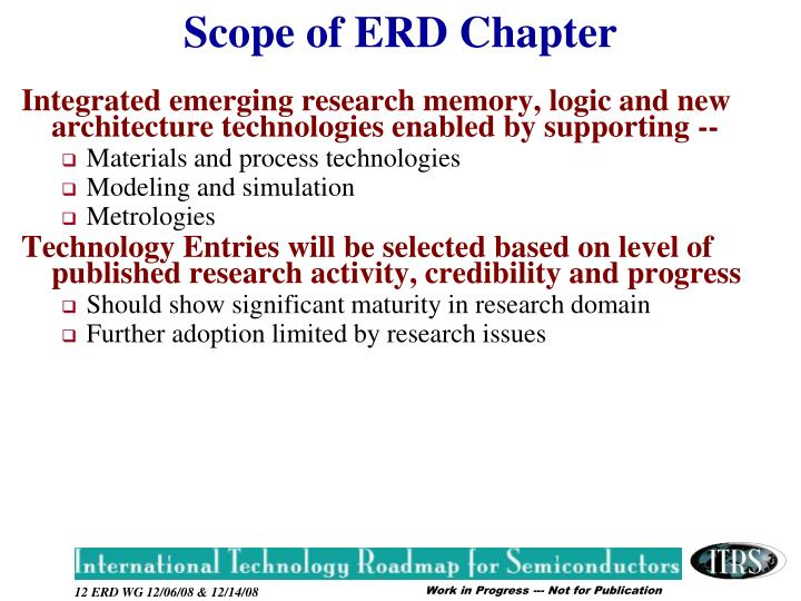 Integrated emerging research memory, logic and new architecture technologies enabled by supporting --