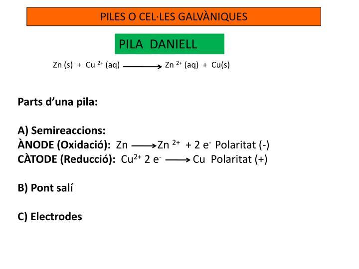 PILES O CEL·LES GALVÀNIQUES