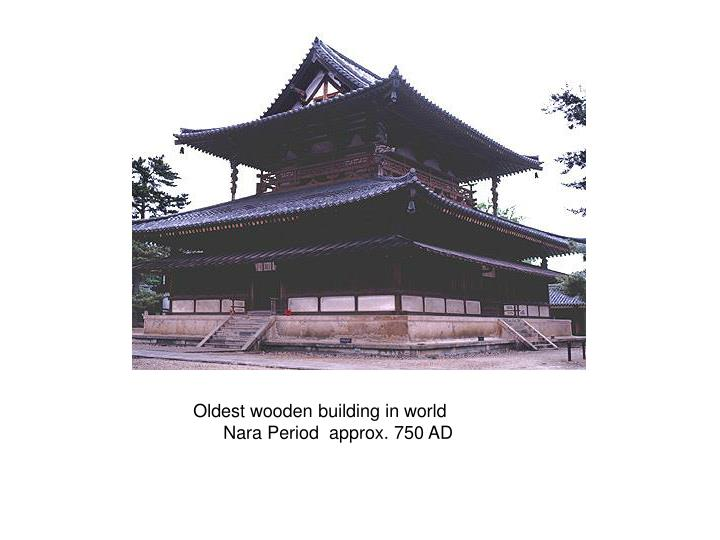 Oldest wooden building in world