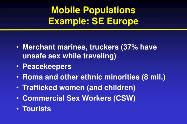 Mobile Populations