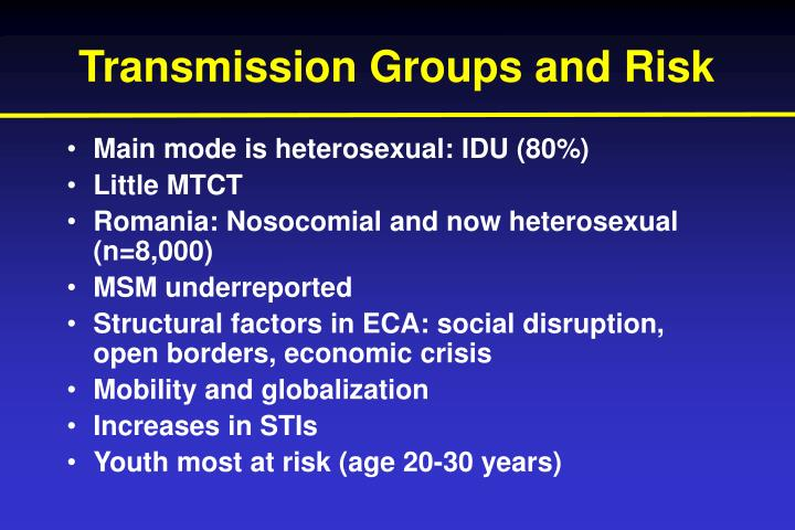 Transmission Groups and Risk