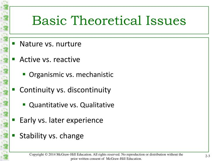 Basic Theoretical Issues