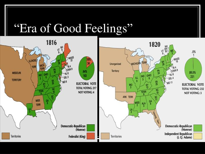 1800s era of good feelings essay Era of good feelings dbq essaysthe ¡°era of good feelings¡± was the period in us history when people were stimulated by two events of 1816, during the presidency of james madison: the enactment of the first us protective tariff and the establishment of the second national bank.